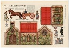 76.2088: Tinytown Church   play set   paper toy   Play Sets   Toys   Online Collections   The Strong