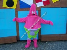 Homemade Patrick Star Halloween Costume: For Halloween this year our family decided on SpongeBob as our theme.  I was elected to be Patrick.  It was a bit of challenge, since we didn't have a