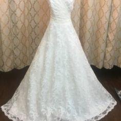 Strapless Lace Ballgown Wedding Dress • Ava's Bridal Couture Bridal Dresses, Bridesmaid Dresses, Affordable Bridal, Bridal Salon, Bridal Lace, Ava, Ball Gowns, Short Dresses, Couture