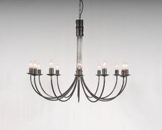The Belton - 12 Arm Wrought Iron Candle Chandelier - Belico