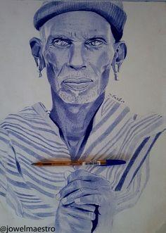 Ballpoint pen drawing #art #artist #illustration #drawing #ballpointpen #oldman #kenya #jmaestro #lavenirsedessine
