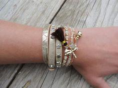 Armbandjes zand beige #Leeuw-design