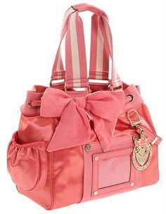 Juicy Couture diaper bag. I'd wear it as a purse lol