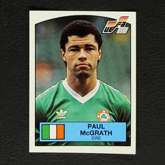 Image result for paul mcgrath panini sticker euro88 Baseball Cards, Stickers, Image, Sticker, Decal, Decals