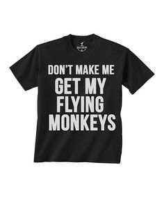 Another great find on #zulily! Black 'Flying Monkeys' Tee - Toddler & Kids #zulilyfinds