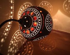 100% handmade gourd calabash lamps handcrafted pumpkin table lamps
