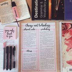 """studyblr roboticsisforgirlstoo: """" """"Your only limit is you."""" I've just rewritten my Advanced English notes, I love this new layout! Cute Notes, Pretty Notes, Good Notes, Studyblr, School Organization Notes, Study Organization, College Notes, School Notes, Bullet Journal Notes"""