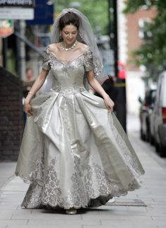 From the wedding dresses worn by celebrities such as Kim Kardashian and Jessica Biel, to some of the most outrageous OTT gowns in history - these are the most expensive wedding dresses ever to be made. Celebrity Wedding Dresses, Celebrity Weddings, Wedding Gowns, Bridal Gown, Most Expensive Wedding Dress, Crystal Gown, Dubai Miracle Garden, Wedding Expenses, Wedding Planner