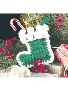 Free Crochet Pattern - Tiny Christmas Sock