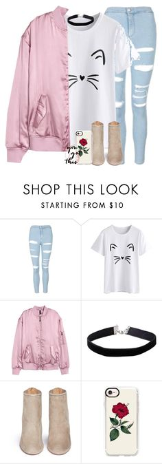 """If only my polyvore outfits were real"" by labures on Polyvore featuring Topshop, H&M, Miss Selfridge, Aquazzura and Casetify"