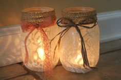 I love Ball Jars, we use the to drink of our, I use them when we travel for everything from Laundry detergent to juices.  So, this idea is perfect for me.  Rustic, crafty, it makes me smile.... Adventures of a Middle Sister: DIY Mason Jar Luminaries