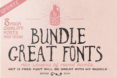 Font Bundle + Bonus by bowery_Studio on Creative Market