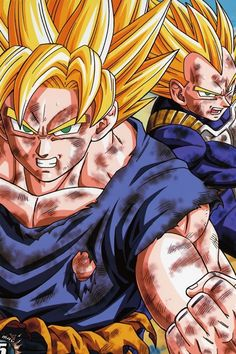 Dragonball Z Goku and Vegeta SS2