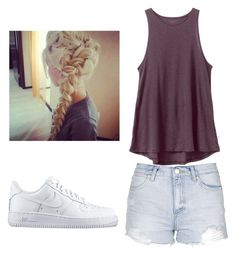 """""""Summer Days:-)"""" by talaylay123 ❤ liked on Polyvore featuring Topshop, RVCA and NIKE"""
