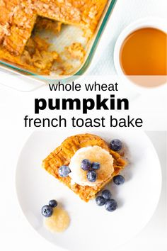 #ad Enjoy fall flavors with this Whole Wheat Pumpkin French Toast Bake recipe! A delicious breakfast addition for all, and a great way to incorporate nutrient-rich eggs for toddlers and babies!