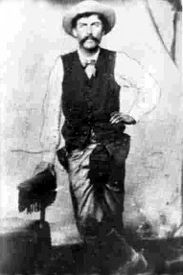 """Fredrick Tecumseh """"Fred"""" Waite - A Chickasaw Indian, Waite was a short-time member of Billy the Kid's Gang and gunfighter for the Regulators during the Lincoln County War. Later however, he would serve as a lawman and prominent politician. Native American History, Native American Indians, Native Americans, Jesse James, Tennesse, Cherokees, Old West Outlaws, Nashville, Trail Of Tears"""