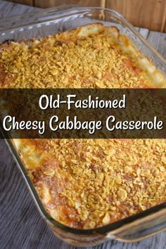 Old-Fashioned Cheesy Cabbage Casserole Recipe - These Old Cookbooks - TOC's Recipes - Side Dish Recipes, Vegetable Recipes, Vegetarian Recipes, Cooking Recipes, Cooking Ribs, Fruit Recipes, Bread Recipes, Yummy Recipes, Vegetarian Food