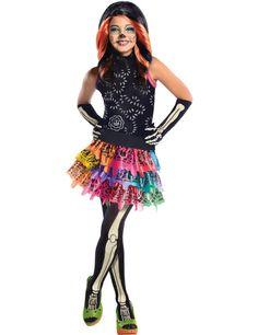 Child Monster High Skelita Calaveras Costume   Jokers Masquerade