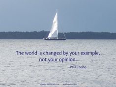 Be the example...