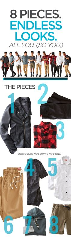 This school year show up in all new outfit ideas that are simple and casual. New jeans are a must and add some trend pieces like a moto jacket or buffalo plaid button-up shirt. Khaki joggers are easy to throw on no matter the occasion. You can keep it casual with a soft t-shirt and hoodie or dress it up a little with a collared shirt. Layering is also an easy way to create outfits for back to school. Click to shop the looks!