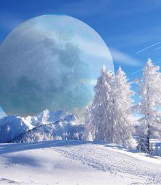Full moon in winter