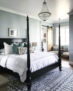 Master Bedroom and Bath Tour- Mixing Old and New - Nesting With Grace