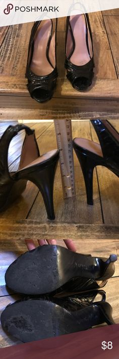 Sassy black heels. Priced to reflect wear and tear. Plenty of life left. No trades. Calvin Klein Shoes Heels