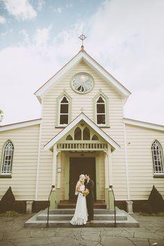bohemian meets vintage bride and groom // photo by Brad Boniface