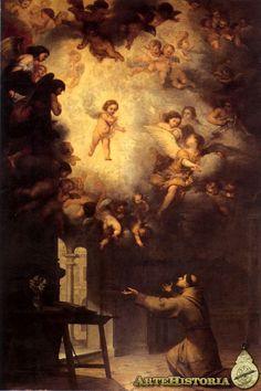 77. Murillo. San Antonio de Padua - 1656. Esta obra está muy incluida por el Triunfo de la Eucaristía de Herrera de Mozo.