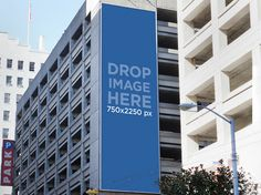 Banner Mockup on a Building. Try it out at: https://placeit.net/c/print/stages/ad-on-a-building