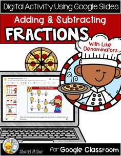 Are you looking for digital resources for your students? You'll love this pizza themed Fractions Google Slides activity! It is a great way for students to practice adding and subtracting fractions with like denominators in a motivating way. The Google Slides activity includes drag and drop, matching and typing text in order to complete the 20 activity pages. Math Activities, Teacher Resources, Teacher Tips, Math Games, Teaching Ideas, 4th Grade Math, Third Grade, Elementary Teacher, Elementary Education