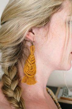 Diy Earrings Kit, Diy Macrame Earrings, Macrame Jewelry, Etsy Earrings, Earrings Handmade, Diy Jewelry, Crochet Earrings, Jewellery, Macrame Design