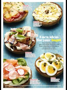 Sliced Ham, Sliced Tomato, Plain Bagel, Bruschetta Bar, Deli Ham, Ricotta, Cheddar, Bread Recipes, Sandwiches