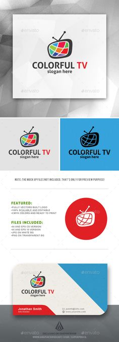 Colorful Tv  - Logo Design Template Vector #logotype Download it here: http://graphicriver.net/item/colorful-tv-logo/10985197?s_rank=233?ref=nexion