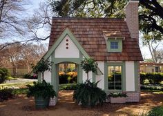 Claude Monet-InspiredHouse at Dallas Arboretum: Monet was an avid gardener so it's only fitting that this playhouse is set among the gardens at the Arboretum.