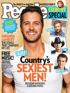 OMG my favorite was named Peoples Sexiest Country Man! Check it out! Luke Bryan named 'People Country's' Sexiest Man Free Country Music, Country Music Artists, Country Music Stars, Country Singers, Country Playlist, Luke Luke, Bae, Country Men, Country Life