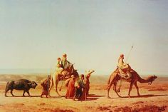 From Wikiwand: Syrian Arabs traveling  by Prosper Marilhat 1811 - 1847