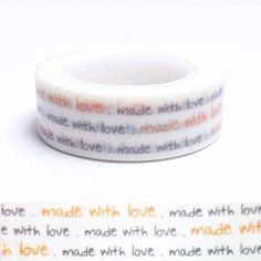 "Masking tape ""Made with love"""