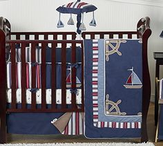 Nautical Crib Bedding List! Discover the best nautical themed crib bedding, beach crib bedding, and more for your nursery