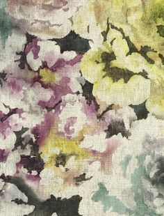 HARMONY Galerie Wallpaper - an artist impression of flowers made into a beautiful wallpaper #homedecor #floralwallpaper #wallpaper