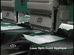 Split Front Laser Applique