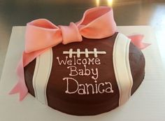 football baby shower | Baby Shower - Football cake — Baby Shower