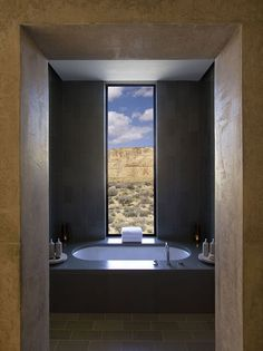 Amangeri bathroom with an out of this world view. #beautifulbathrooms
