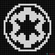 Republic symbol - Star Wars crochet blanket : free charts and explanations ! Star Wars Crochet, Pixel Crochet, Crochet Stars, Star Wars Quilt, Cross Stitching, Cross Stitch Embroidery, Cross Stitch Patterns, Knitting Charts, Scrappy Quilts