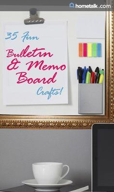 Amazing bulletin and memo board crafts you can make yourself!