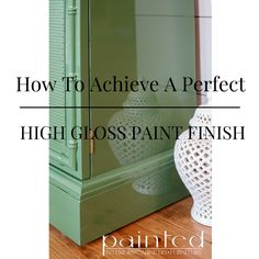 For those out there who are interested in how to get the most perfect glossy paint finish, you've come to the right place