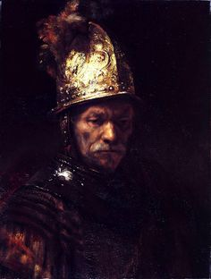 """""""The Man With the Golden Helmet,"""" Berlin's most famous painting and for centuries believed to be a #Rembrandt masterpiece, is the work of an unknown artist, an art historian says.  Jan Kelch, a West Berlin-based art historian and specialist on Dutch paintings, said that the 20x26 1/2-inch portrait was probably painted in 1650 by one of the Dutch master's students."""