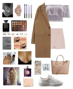 """""""meal"""" by outfits69 ❤ liked on Polyvore featuring River Island, Chanel, Morphe, Yves Saint Laurent, MICHAEL Michael Kors, Puma, Casetify, GlamGlow and MANGO"""