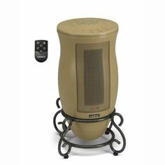 RC Ceramic Tower Heater by Lasko Products. $57.13. RC Ceramic Tower HeaterDesigner series Oscillating Ceramic Heater with Remote... With style to spare, the Designer Series Oscillating Ceramic Heater provides warmth and charm to any room. Displaying a beautiful metal scrollwork base, unique hourglass shape, and neutral color, it blends well with any d cor. Not only elegant, its electronic touch-control operation allows you to fine tune the room temperature to your comfort ...