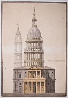 Studio Del Comportamento Statico Della Cupola Di S. Gaudenzio A Novara - Picture gallery Revit Architecture, Baroque Architecture, Church Architecture, Classic Architecture, Architecture Drawings, Historical Architecture, Beautiful Architecture, Architecture Details, Building Drawing